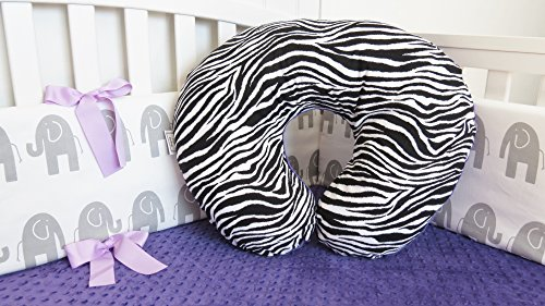 rts Zebra and Minky Nursing Pillow Cover - Infant Nursing Pillow Cover, Feeding Pillow Cover, Boppy Pillow Cover