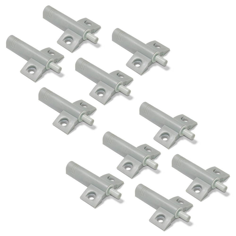 Emuca 1275021 Door dumper/buffer for cabinet/drawer, grey, Set of 10 pcs