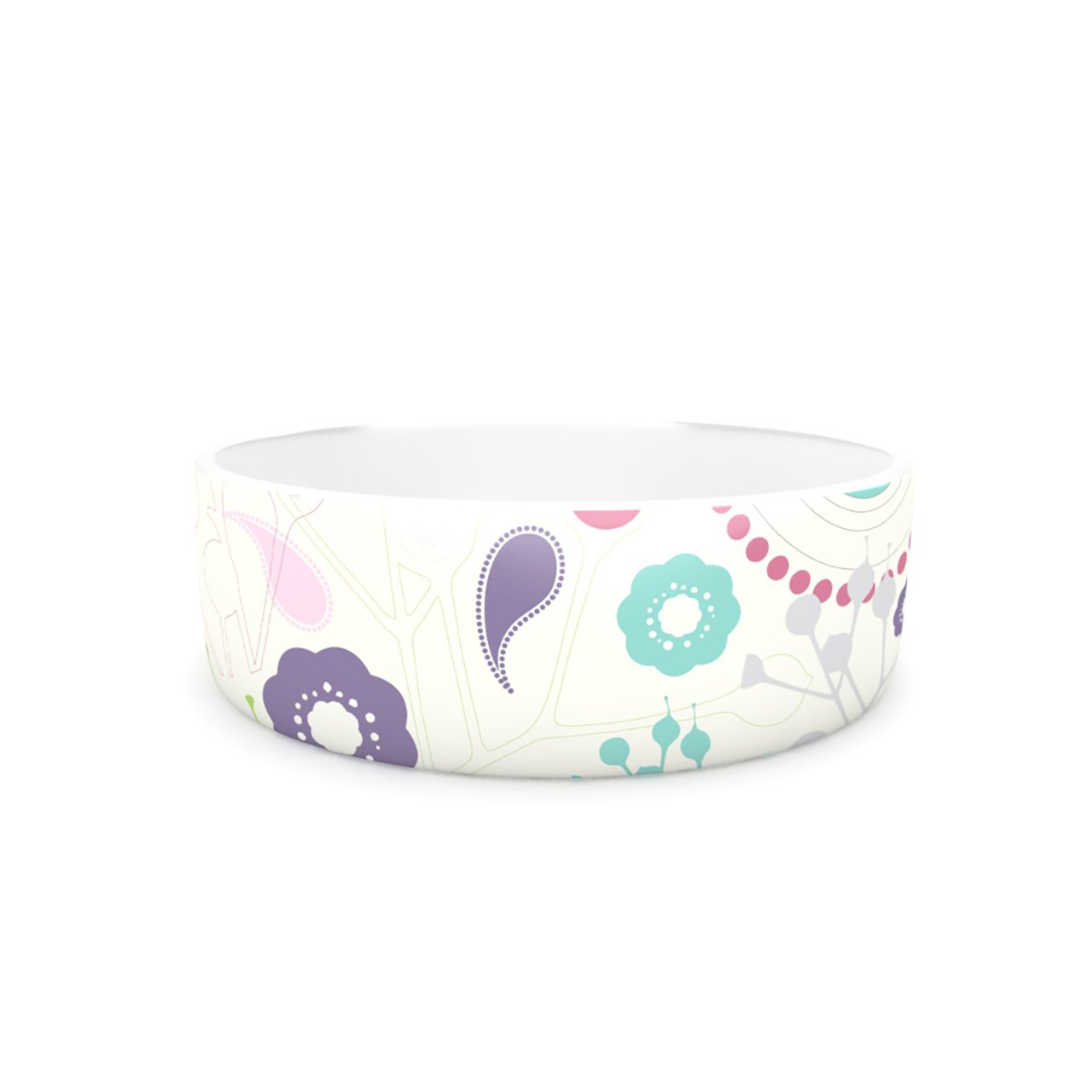 Kess InHouse Nicole Ketchum Bird Song  Pet Bowl, 7-Inch