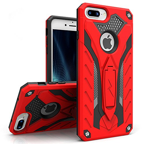 iPhone 8 Plus Case / iPhone 7 Plus Case, Zizo [Static Series] Shockproof[Military Grade Drop Tested] w/ Kickstand [iPhone 8 Plus Heavy Duty Case]