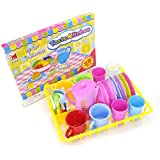 PowerTRC Kids Wash and Dry Kitchen Dishes and Tea Playset