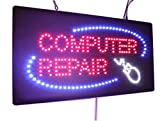 Computer Repair Sign, High Quality LED Open Sign, Store Sign, Business Sign, Windows Sign