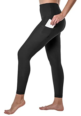 """5e8912faec3fe 90 Degree By Reflex Hi Rise 26"""" Leggings with Side and Back Pockets -  Black"""