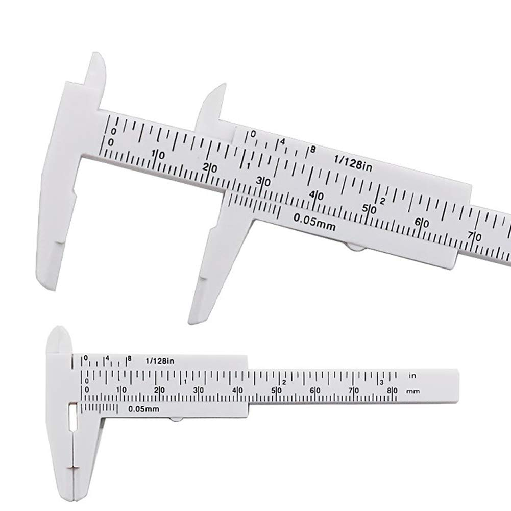 Vernier Caliper 80mm Mini Plastic Sliding Ruler Gauge Measure Tool
