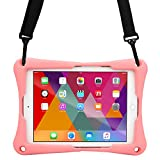 Asus Zenpad Z10 case, [Cross Compatible Shoulder Strap Rugged Case] COOPER TROOPER 2K Protective Heavy Duty Carry Cover Stand, Drop Shock Proof, Kids Adults (Pink)