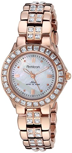 Armitron Women's 75/3689MPRG Swarovski Crystal Accented Rosegold-Tone Dress Watch