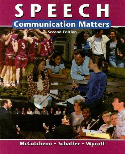 Speech: Communication Matters