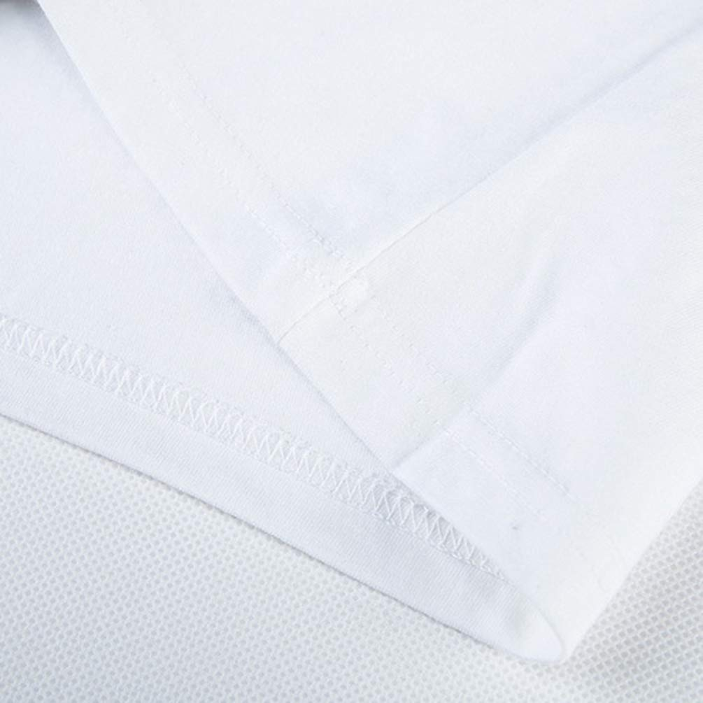 Kairuun Hombres 3D Imprimir Camiseta Manga Larga Tops Camisetas De Algod/ón Blanco Tees Tops