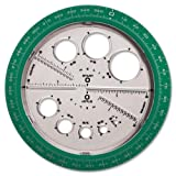 Wholesale CASE of 25 - Helix Angle and Circle Protractor-Protractor/Compass Angle and Cirlcle Maker, Assorted