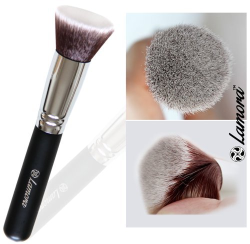 Foundation Makeup Brush Flat Top Kabuki for Face - Perfect For Blending Liquid, Cream or Flawless Powder Cosmetics - Buffing, Stippling, Concealer - Premium Quality Synthetic Dense Bristles! (Sigma Large Powder Brush compare prices)