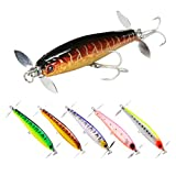 SeaKnight Fishing Lure Floating Pencil Baits 80mm 9g Fishing Wobblers 3D Eyes Artifical Hard Bait With Seawater Hook (SK034_5pcs)