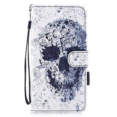 Fundas y estuches para teléfonos móviles, para la cubierta del caso cubierta del sostenedor de la tarjeta con el patrón magnético del tirón del soporte caja llena del cuero del ( Modelos Compatibles : IPhone 7 Plus