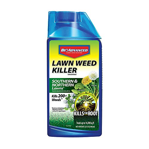 Bayer All In One Weed Killer - BioAdvanced 704160 Weed Killer for Lawns Concentrate, 32-Ounce