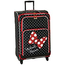 American Tourister Disney Mickey All Ages Spinner, Minnie Mouse Red Bow, Checked – Large