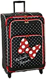 American Tourister Disney Mickey All Ages Spinner, Minnie Mouse Red Bow, Checked –