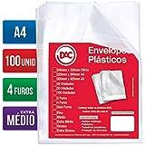 Blister 100 Envelopes A4 Extra Medio 4 Furos, DAC, Blister 100 Envelopes A4 Extra Medio 4 Furos 5178A4-100, Transparente, 5178A4-100