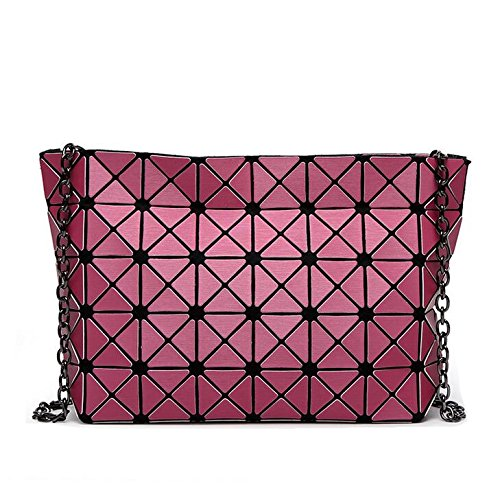 Bag Geometric 5 Matt Bag 8 Handbag Color Women Clutch Crossbody Black Bag Chain Lattic FFx6vgqtw