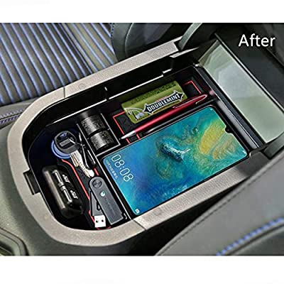JOJOMARK for 2020 Toyota RAV4 Accessories Center Console Organizer Tray Armrest Box Secondary Storage Fit 2020 2020 Toyota RAV4: Automotive