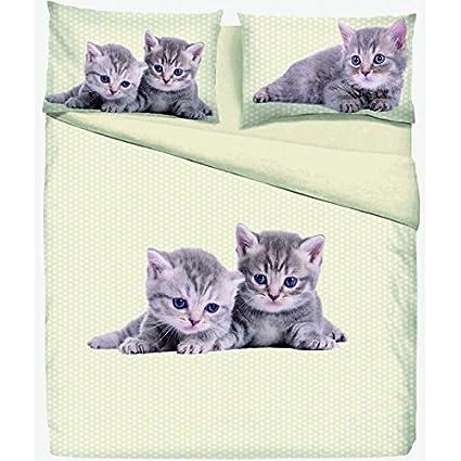 Funda nórdica Daisy gato gatos Gatitos - Individual 1 plaza ...