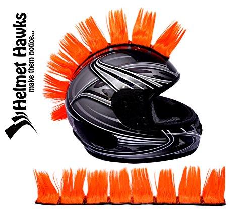 Helmet Hawks Motorcycle, Ski or Snowboard Helmet Mohawk w/Sticky Hook and Loop Fastener Adhesive (8) Hair Patches 2