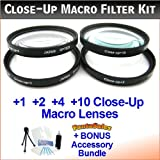 67mm Digital High-Resolution Close-Up Macro Filter Set with Pouch For The Nikon D5, D3X, D3, D2Xs, D2Hs, D2X, D2H, D3, D40, D40X, D50, D55, D60, D70, D80, D90, D100, D200, D300, D500, D600, D700, D800, D810 Digital SLR Cameras Which Have Any Of These (18-135mm, 18-105mm, 18-70mm, 16-85mm) Nikon Lenses. Includes Multi-Coated 4-Pc Close-Up Macro Set (+1, +2, +4, and +10 Diopters), Deluxe Filter Carry Case, + BONUS UltraPro Bundle: Cleaning Kit, LCD Screen Protector, Mini Tripod