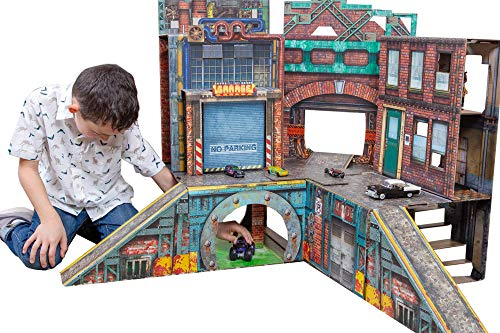 ReadySetz Detailed Graphics Play Set and Diorama - No Assembly, Foldable and Recyclable - Great for Toy Photography and Hours of Fun - Play Big, Store Small - Urban 2.0 by ReadySetz (Image #4)