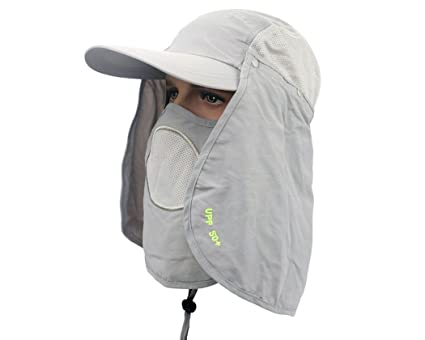 672f22f6aa6 Buy Sun Shield Anti-UV UPF 50+ Ultralight Breathable Flap Hat Neck  Protection Cap Online at Low Prices in India - Amazon.in