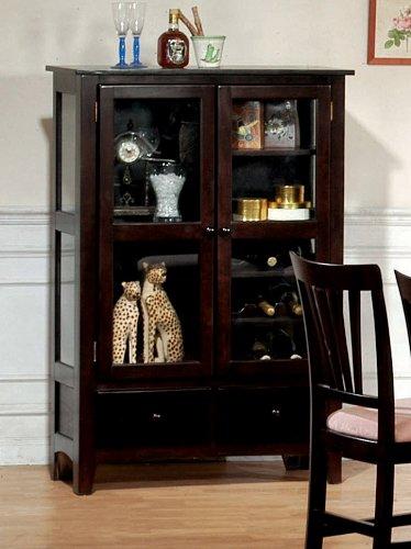 Rich Cappuccino Curio/China Cabinet By Coaster Furniture