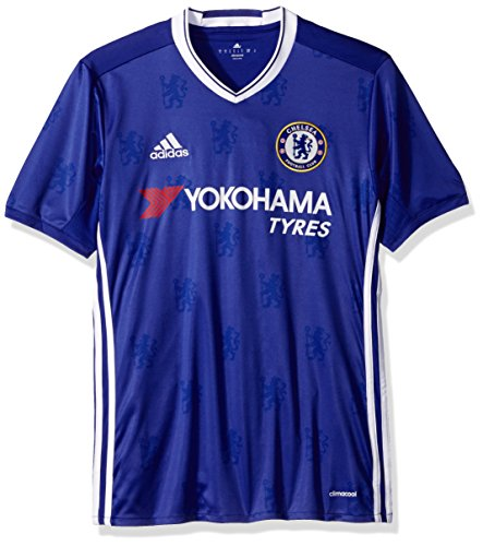 adidas International Soccer Chelsea Men's Jersey, Small, Blue/White Blue Authentic Football Jersey