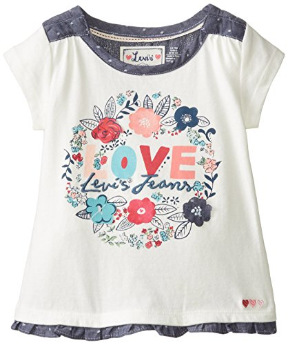 Levi's Little Girls' Janine Knit Top, Gardenia White, 2T