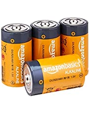 Amazon Basics D Cell Everyday Alkaline Batteries -Pack of 4