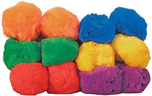 12-Pack, Rainbow Fluff Balls (Yarn Balls), 3-1/2'' diameter by Great Lakes
