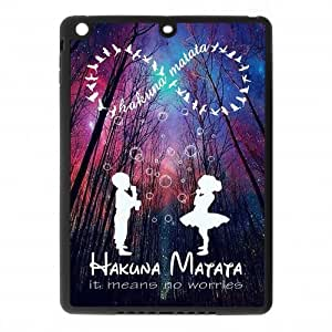 IPad Air Case,Hakuna Matata Infinity Quotes & Cute Bubble Children & Galaxy Night Sky High Definition Wonderful Design Cover With Hign Quality Rubber Plastic Protection Case