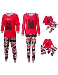 Hatoys Christmas Snowflake Hooded Family Pajamas Matching Christmas Set for  Baby Adult 4120c05e1