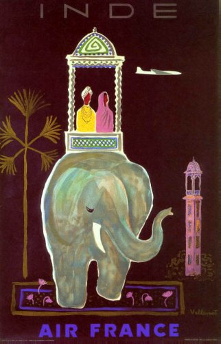 inde-air-france-airplane-travel-india-elephant-tourism-vintage-poster-repro