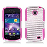 Aimo Wireless SAMI110PCPA016 Hybrid Armor Cheeze Case for Samsung Illusion/Proclaim i110 - Retail Packaging - Hot Pink/White