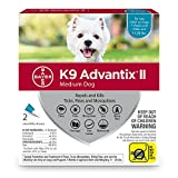 Bayer K9 Advantix II Flea, Tick and Mosquito Prevention for Medium Dogs, 11 - 20 lb, 2 doses