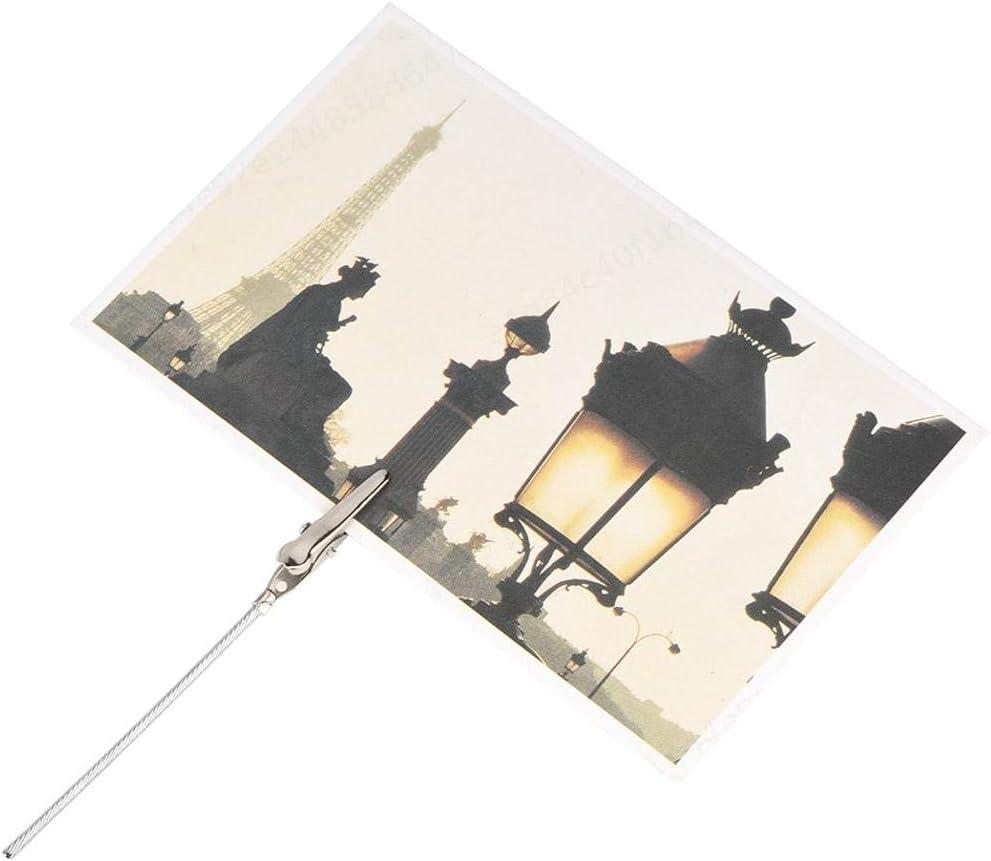 LAQI 50 Unids Pinza de Cocodrilo de Alambre de Metal Foto Nota Clips DIY Craft Clip de Alambre Soporte Soporte de Foto Soporte Memo Clip