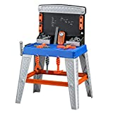 BS Toy Workbench for Toddlers Tool Bench Kids Learning Toys Mechanic Tool Play Set Playing Games Pretend Play 35 Piece Colorful Active Fun Tools for Boys & eBook by BADA Shop