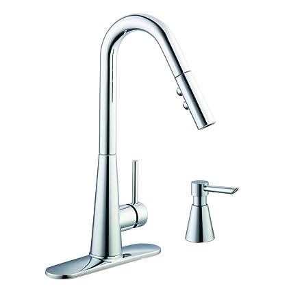 Glacier Bay 950 Single-Handle Pull-Down Kitchen Faucet Soap ...