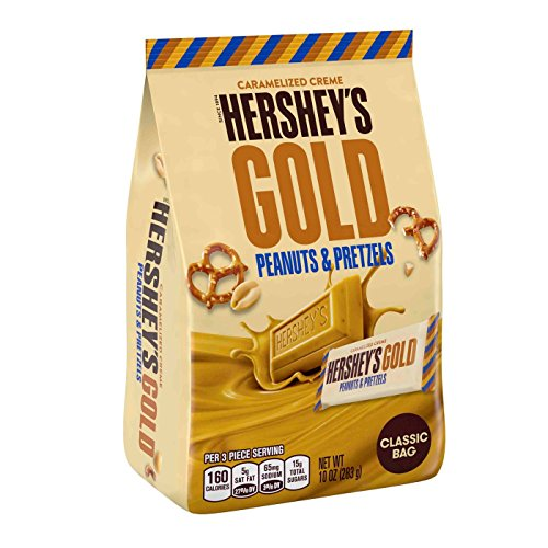 Hersheys Chocolate Pretzels - Hershey's Gold Peanuts & Pretzels Classic Bag 10oz, pack of 1