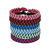 Jeka Friendship Handmade Braided Woven Bracelet Cool Cuff for Women Girl Wrist Anklet Gift 6Pcs Set