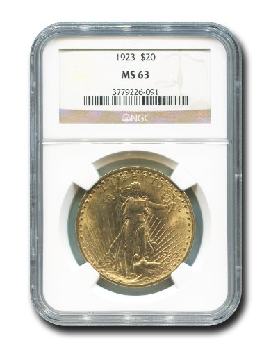 1923 No Mint Mark Saint Gaudens Twenty Dollar NGC MS-63