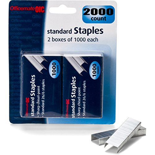 Officemate Standard Staples 2000 Ct