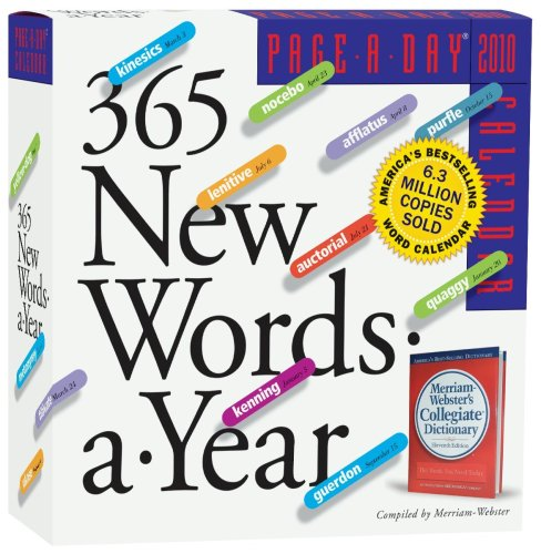 365 New Words Page-A-Day Calendar 2010 (Page-A-Day Calendars) - Page 2010 Diary
