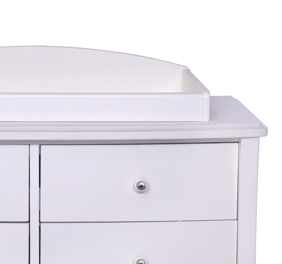 Simmons Kids Slumbertime Madisson Changing Topper, White Ambiance by Simmons Kids (Image #2)