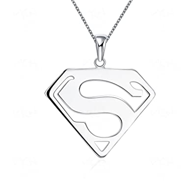 Amazon superman pendant necklace stainless steel for women men superman pendant necklace stainless steel for women men jewelry gift mozeypictures Gallery