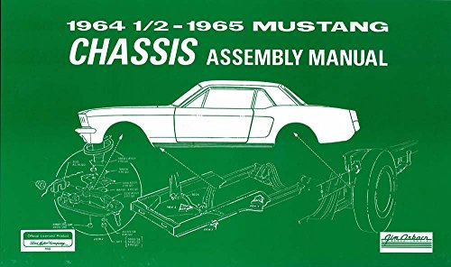 bishko automotive literature 1964 1965 Ford Mustang Chassis Assembly Manual Book