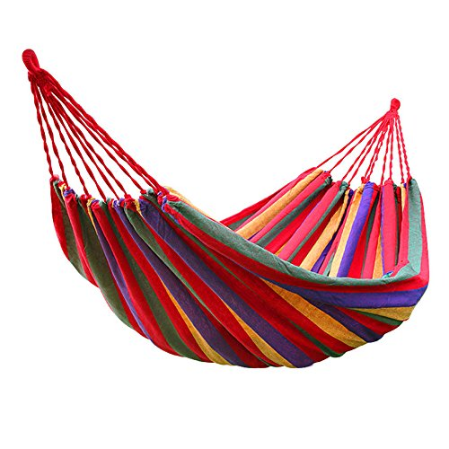 VIVOHOME Portable Rainbow Camping Hammock - Campus Kit Bed