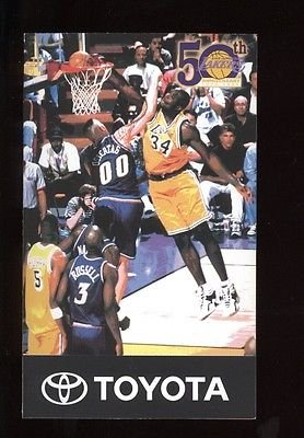 1998 Los Angeles Lakers NBA Basketball Schedule MINT